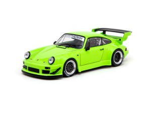 1/43 RWB 930 Lime Green with Black wheels